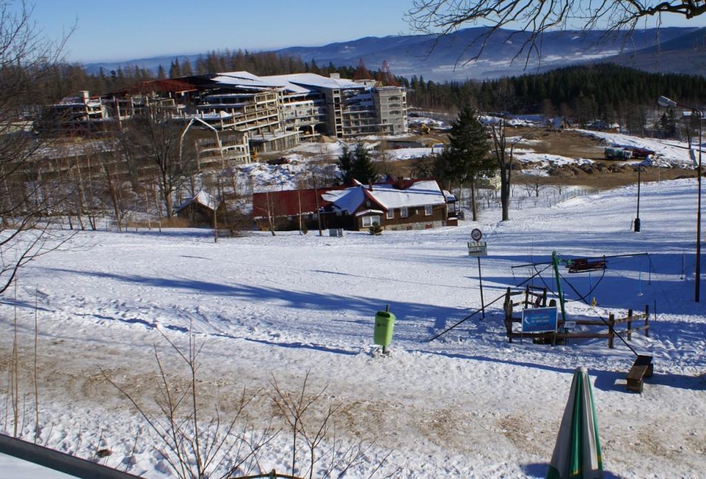 Zdjęcie z budowy Hotelu Gołębiewski
