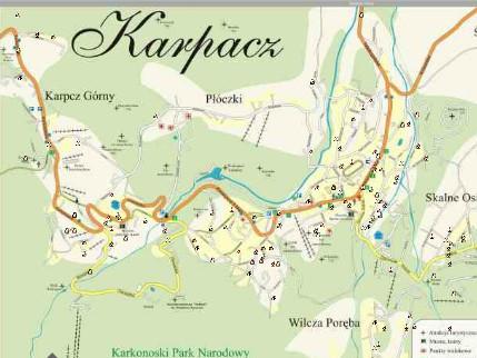 mapa karpacz